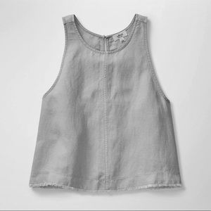 Aritzia Wilfred linen frayed hem sleeveless top